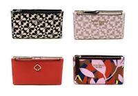 Kate Spade Small Slim Bifold Wallet Clover Jackson Credit Card Holder