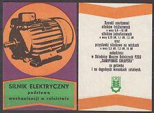 "POLAND 1973 Matchbox Label - Cat.G#317/18 CRS ""Peasant Self-Help"" - electric mot"