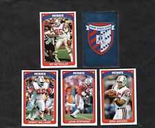 NEW ENGLAND PATRIOTS PANINI STICKERS AMERICAN FOOTBALL NFL 90-91 x5