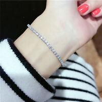 Fashion Women Gift Rhinestone Crystal Bracelet Adjustable Bangle Cuff Jewelry