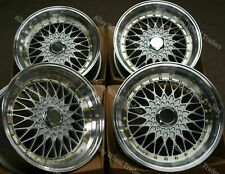 "15"" Silver RS Alloy Wheels Fits Bmw E30 Fiat Punto Evo Grande Punto 4x100 GS"