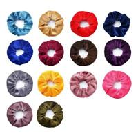 Women Velvet Scrunchies Ponytail Holder Hair Accessories Elastic Hair Lot F6O9