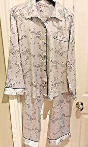 Victoria Secret Satin Afterhour Pajama Set pants pj NEW animal XL XS $90 leopard