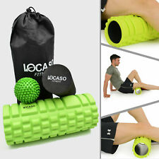 Grid Massage Foam Roller Ball Yoga Pilates Muscle Physio Gym Exercise Fitness UK