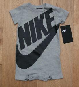Nike Baby Boy Romper ~ Gray & Black ~