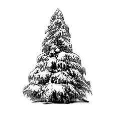Crafty individuos grande árbol de navidad estilo individual Collage desmontado Rojo R