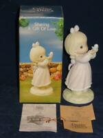 Precious Moments Porcelain Figurine 1990 SHARING A GIFT OF LOVE Easter Seals MIB