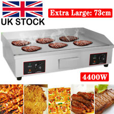 More details for 73cm large electric countertop griddle commercial kitchen hot plate bacon grill