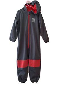 Softshellanzug Softshelloverall 110 116 Grau Anthrazit Rot Bus