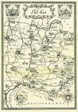 1930 South East FRANCE Cote d'Azur Pictorial map Original - Antique Vintage