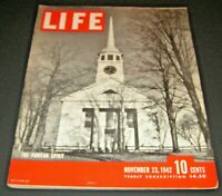 November 23, 1942 LIFE Magazine Old Graphics ads adds add, FREE SHIPPING Nov 11