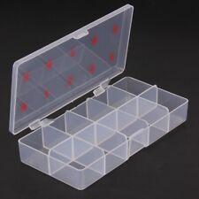Professional 1 Pcs 10 Grids Nail Art Box Empty Divided Case Nail Tips Rhinestone