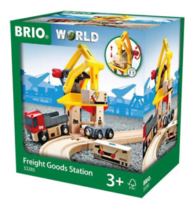 BRIO 33280 Station Freight Goods Station 6pc New