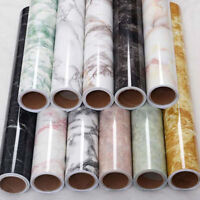 Marble Effect Paper Self Adhesive Glossy Worktop Peel Stick Wall Stickers New TR
