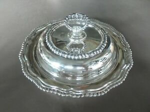 VINTAGE PORTUGUESE OR BRAZILIAN SILVER ALLOY .833 ROUND COVERED SERVING DISH