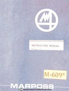 Marposs E14, Soft V D2140005U1, Gauge Type Control Operations and Programming Ma