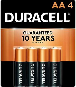 Duracell 4pk AA Batteries Alkaline Batteries Dated March 2030 General Purpose