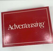 Adverteasing Game Slogans Jingles Original Box Instructions 1988 VTG Cadaco 800