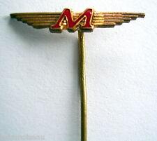 Ancienne épinglette aéronautique, M à identifier.