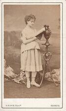 Photo format carte de visite : A.Block ; Mlle Leduc , vers 1870