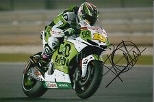 Alvaro Bautista MotoGP Hand Signed Gresini Honda Photo 12x8 2013 1.
