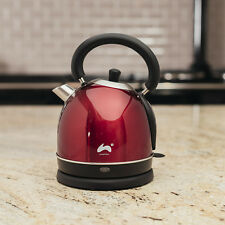 Red Electric Dome Kettle 1.8L Strix Boil Dry Protection Cordless Fast Boil Jug