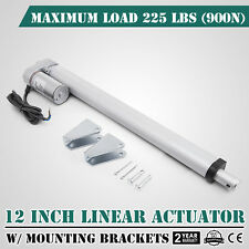 "12"" Stroke Linear Actuator DC12V Electric Motor 900N Durable Sturdy Water-proof"