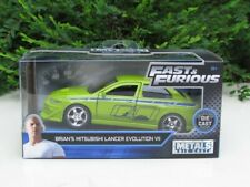 JADA 1/32 Movie Car Fast & Furious BRIAN'S MITSUBISHI LANCER EVO VII 2002 Green