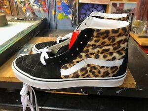 Vans Sk8-Hi Leopard Black True White Size US 9.5 Men New