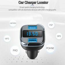 Portable Dual USB Port Speed Car Charger Tracker Locator GPS Vehicle Chargers AA