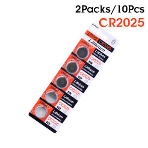 10Pcs 3V Coin Cell Button Battery CR2025 BR2025 DL2025 KCR2025 2025 NA L12 D03E