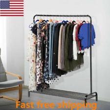 Heavy Duty Metal Garment Rack Free Standing Clothing Hanger Storage Shoes Shelve