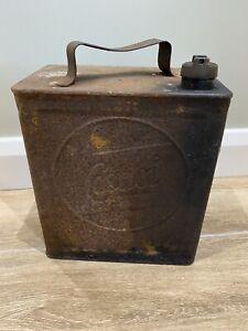 Original Vintage 2 Gallon Castrol Petrol / Oil Can As Found