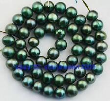 "Green 5-6mm Freshwater Pearl Loose Gemstone Beads 14.5"""