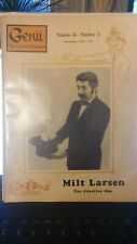 Vintage Genii Magazine Milt Larsen 1970 Issue The Creative One