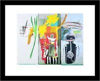 Jean-Michel Basquiat Untitled Skull Poster Kunstdruck mit Alu Rahmen 36x28cm