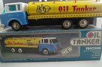 FRICTION POWERED OIL TANKER TRUCK TIN/METAL VF CONDITION WITH BOX
