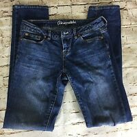Aeropostale Womens Jeans Bayla Skinny Size 0 Regular Normal Stretch Denim Blue