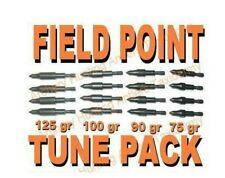 5/16 Archery Screw On Field Points Tune Kit 75 90 100 125 Grain 4 pcs each size