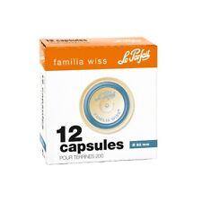 12 capsules familia wiss 'Le Parfait' - diamètre 82mm (bleu)