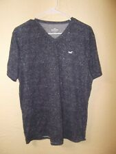 HOLLISTER MENS T shirt-SIZE XL-GRAY- V NECK--EUC--FAST SHIP