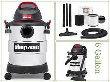 Wet/Dry Stainless Steel Vacuum 6 Gallon Tank 4.5 Peak Hp Household By Shop-Vac