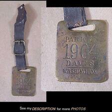 Antique 1904 Presidential Campaign Parker / Davis Watch Fob