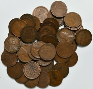 1927 D Roll of 50 Lincoln Wheat Pennies ~ No Culls