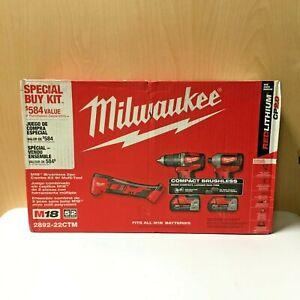 Milwaukee M18 Brushless 2pc Combo Kit w/ Multi-Tool 2892-22CTM NEW