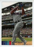 2020 Topps Stadium Club #177 YASIEL PUIG Cleveland Indians PHOTO BASEBALL CARD