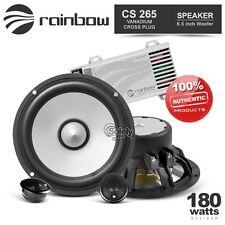 "Rainbow Vanadium Phase Plug Cross CS265 6.5"" 2-Way Car Component Speaker System"