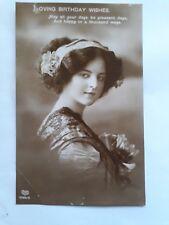"Vintage Early 1900's Greetings Birthday Postcard ""LOVING BIRTHDAY WISHES"""