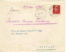 P8954   Bergamo, Mozzanica, busta per bergamo, 1945