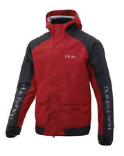New Huk Men's Red Small Tournament Wind & Waterproof Adjustable Hooded Jacket